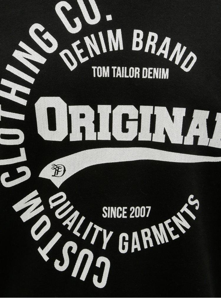 Hanorac barbatesc negru Tom Tailor Denim