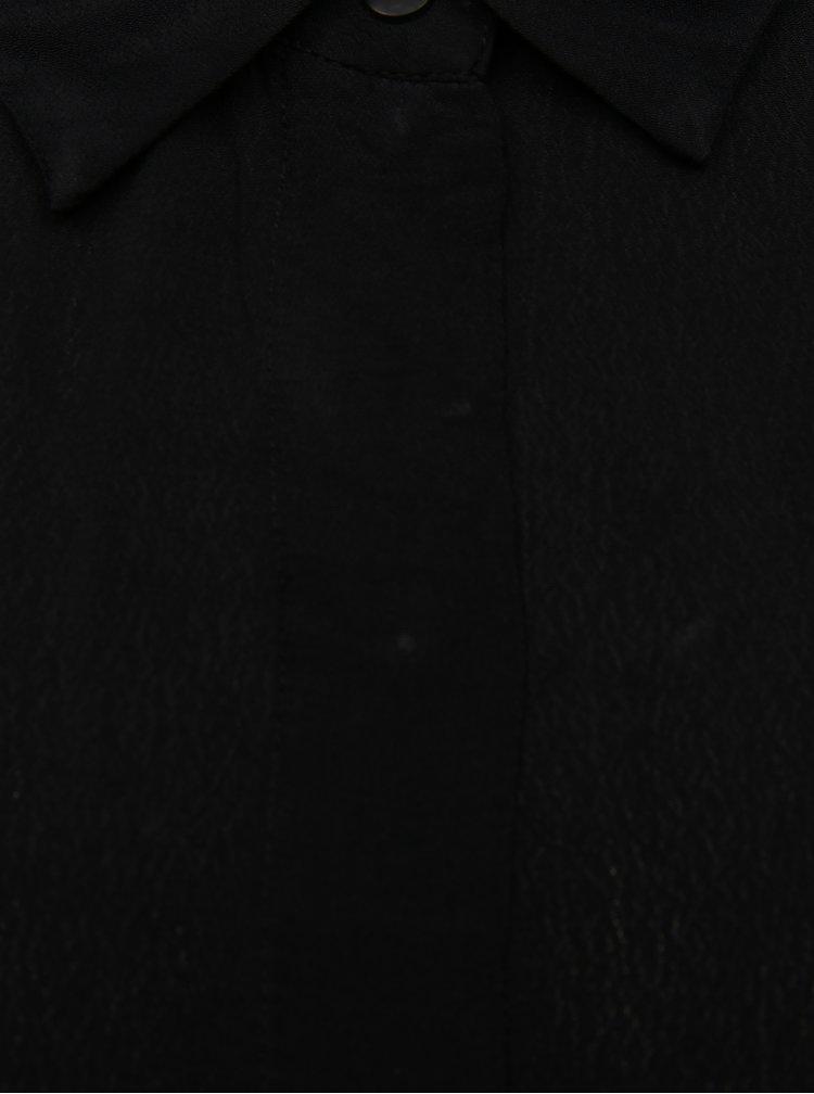 Čierna tenká košeľa Moss Copenhagen Blara