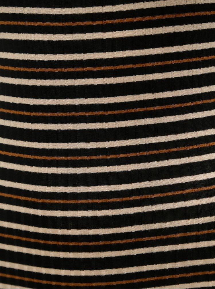 Černo-hnědé pruhované žebrované body Tally Weijl