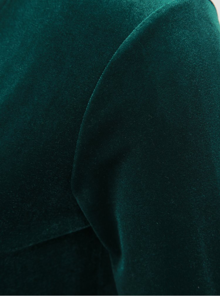 Body verde inchis catifelat cu decolteu in V TALLY WEiJL