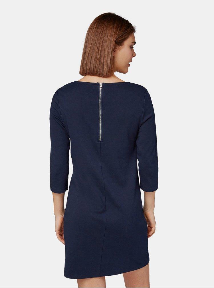 Tmavě modré šaty s 3/4 rukávem Tom Tailor Denim