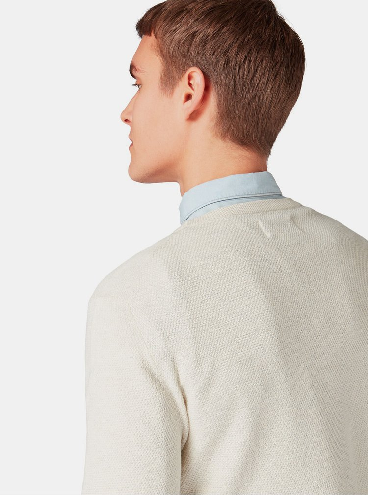 Krémový pánský basic svetr Tom Tailor Denim