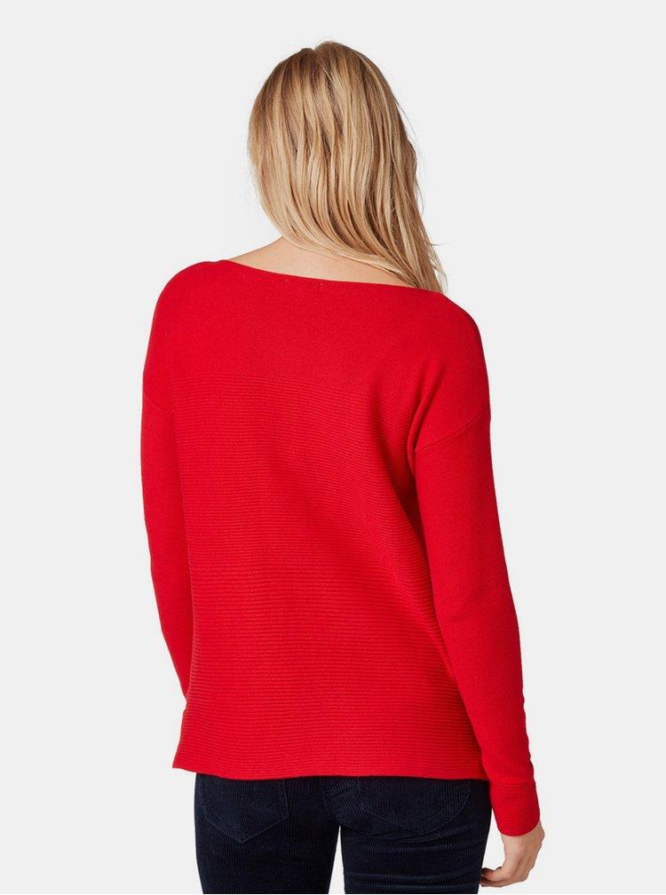 Červený dámsky voľný sveter Tom Tailor
