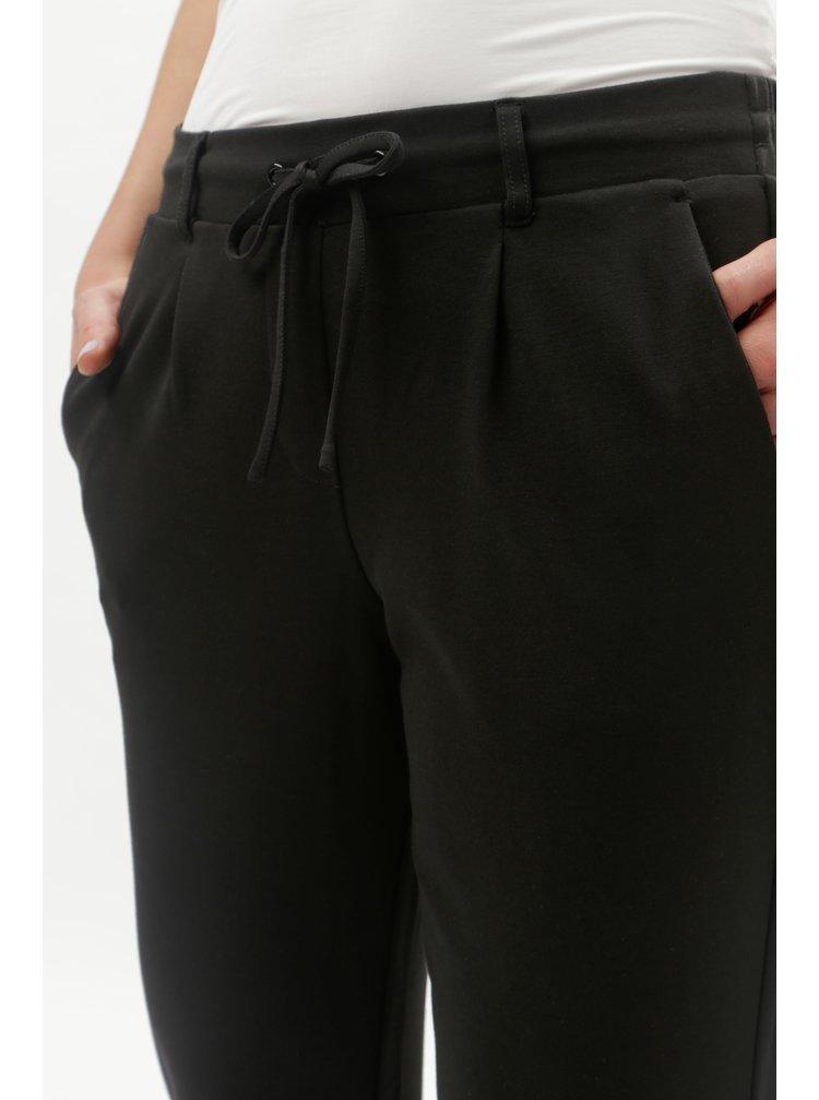 Čierne dámske nohavice s gumou v páse Tom Tailor