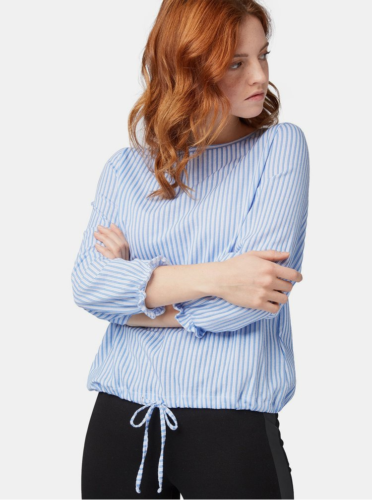 Bluza albastru-alb in dungi Tom Tailor Denim