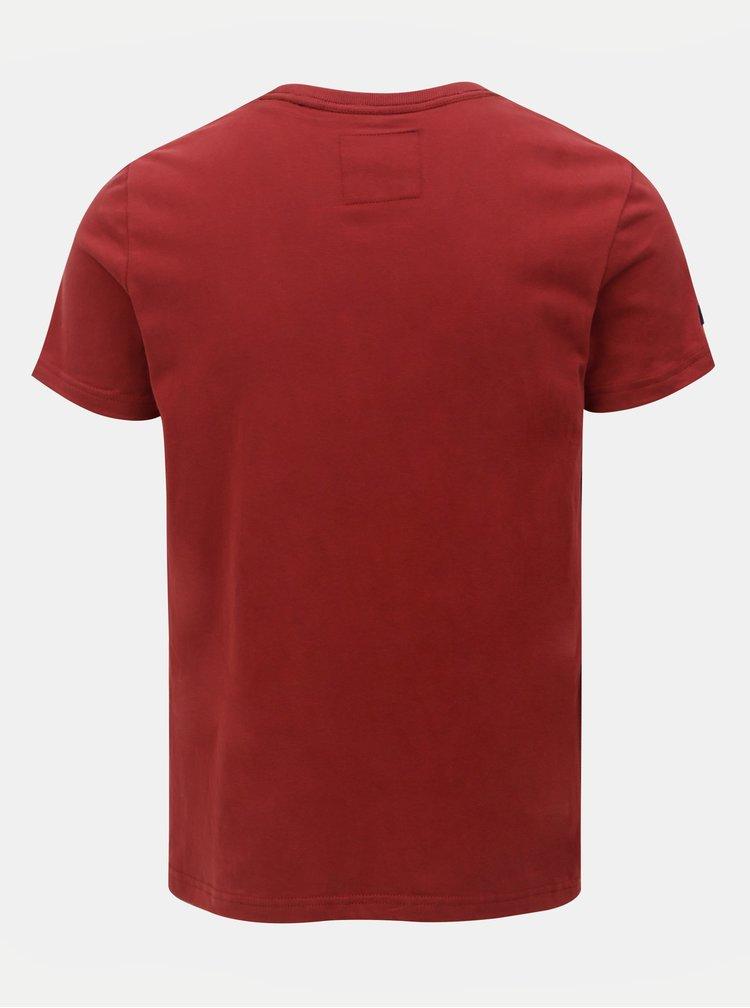 Tricou barbatesc rosu cu imprimeu Superdry