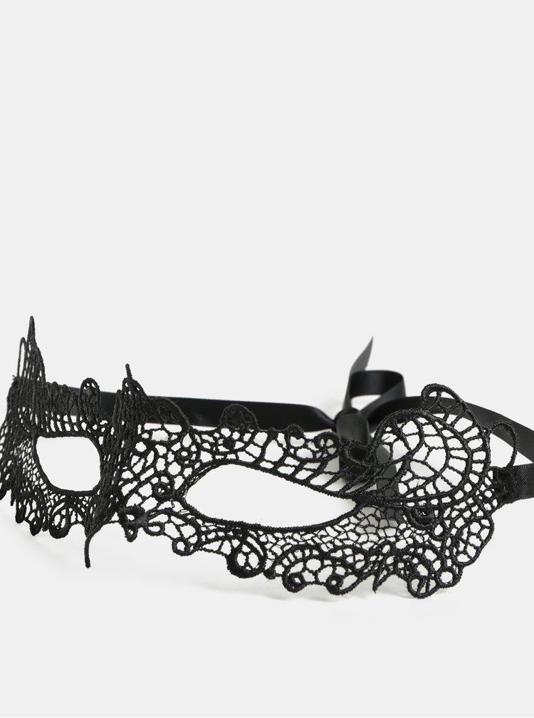 Černá krajková maska Obsessive