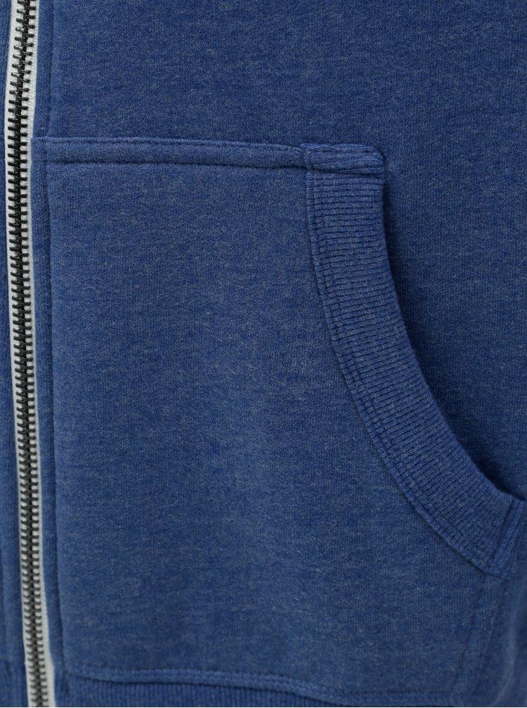 Hanorac barbatesc albastru melanj cu imprimeu Superdry