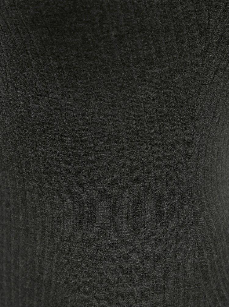 Tmavě šedé žebrované body TALLY WEiJL
