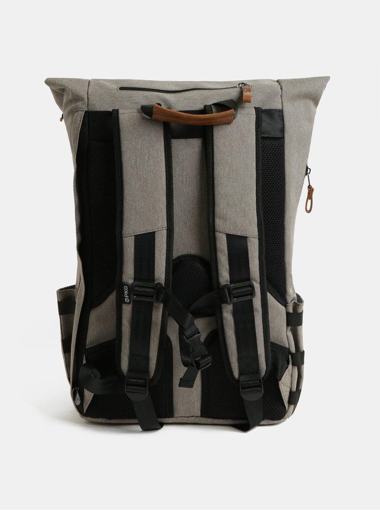 Rucsac maro deschis impermeabil cu geanta detasabila interioara pentru laptop 2 in 1 PKG 22 l