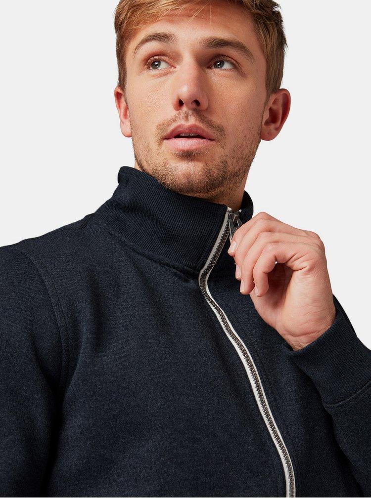 Bluza sport barbateasca albastru inchis cu fermoar Tom Tailor