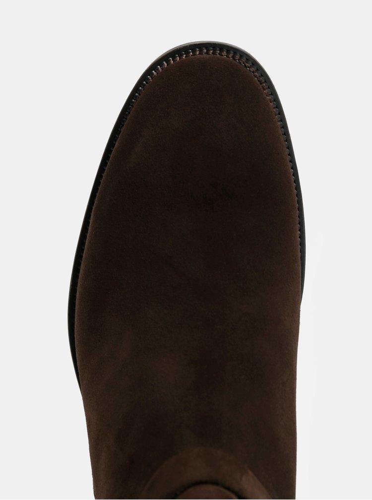 Tmavohnedé pánske semišové členkové topánky Vagabond Roy