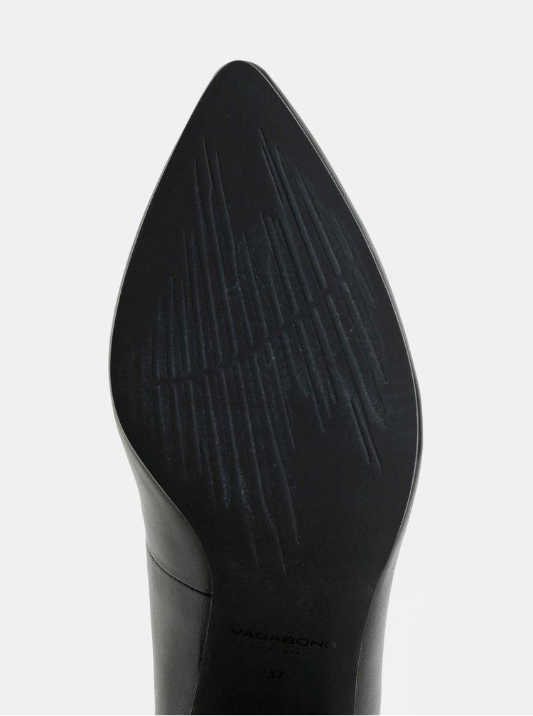 Čierne kožené lodičky Vagabond Mya