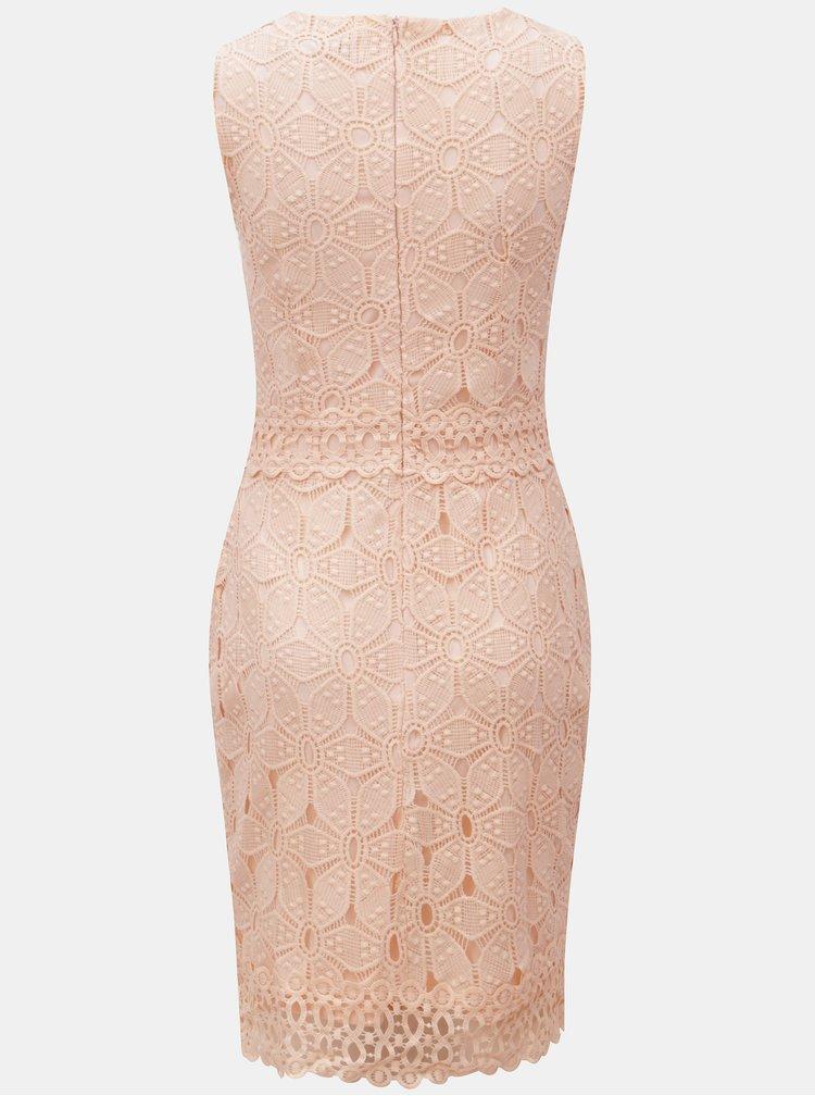 Ružové čipkované šaty Dorothy Perkins