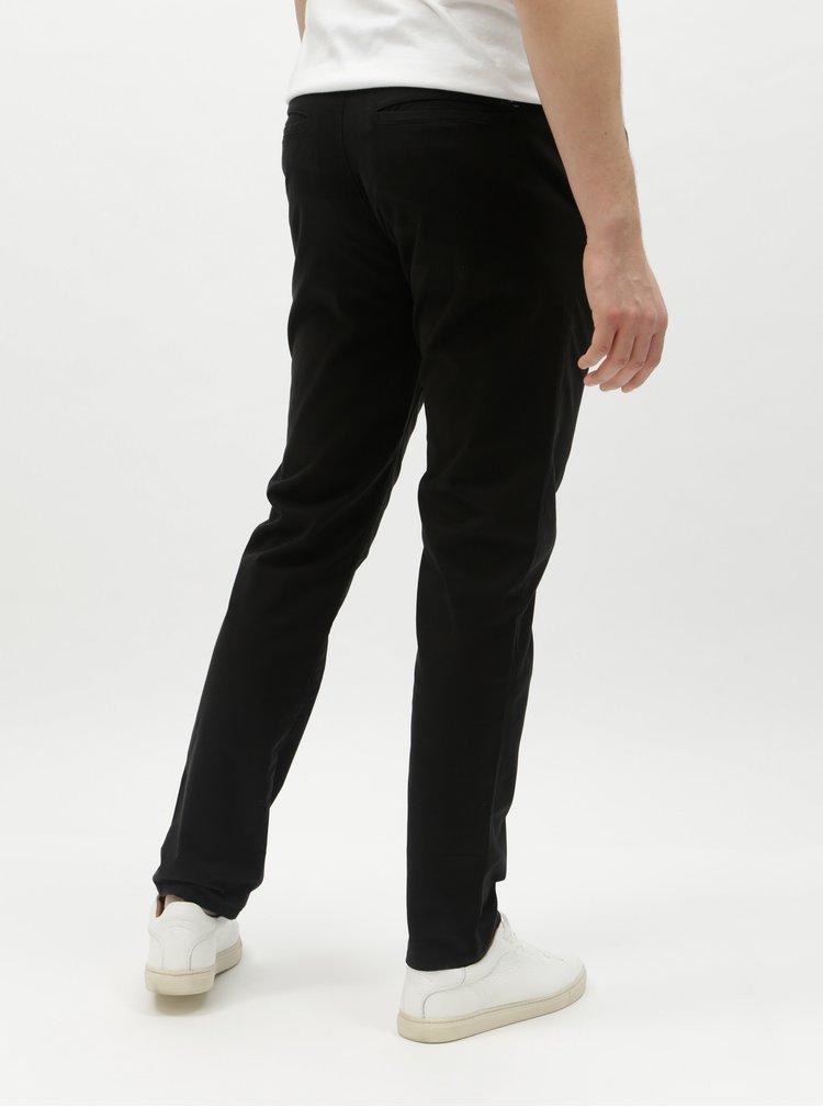 Černé pánské slim chino kalhoty Tom Tailor Denim