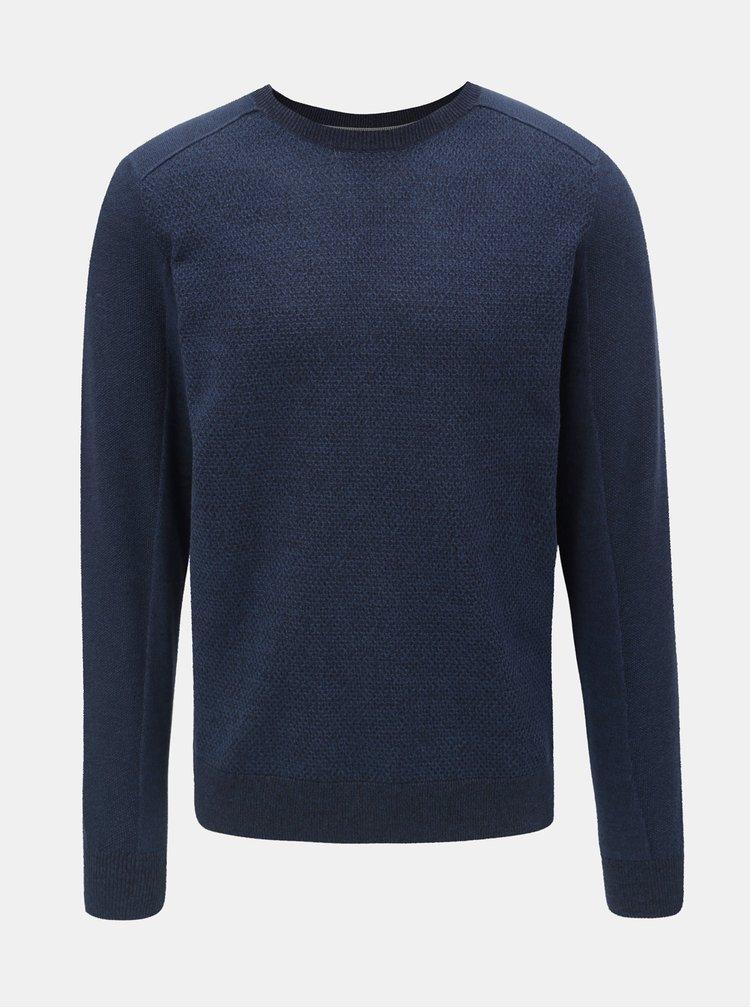Tmavě modrý pánský basic svetr Tom Tailor