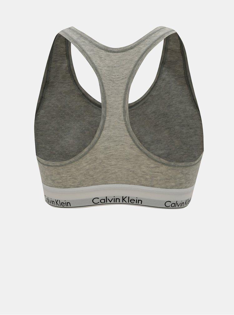 Bustiera gri melanj Calvin Klein Underwear