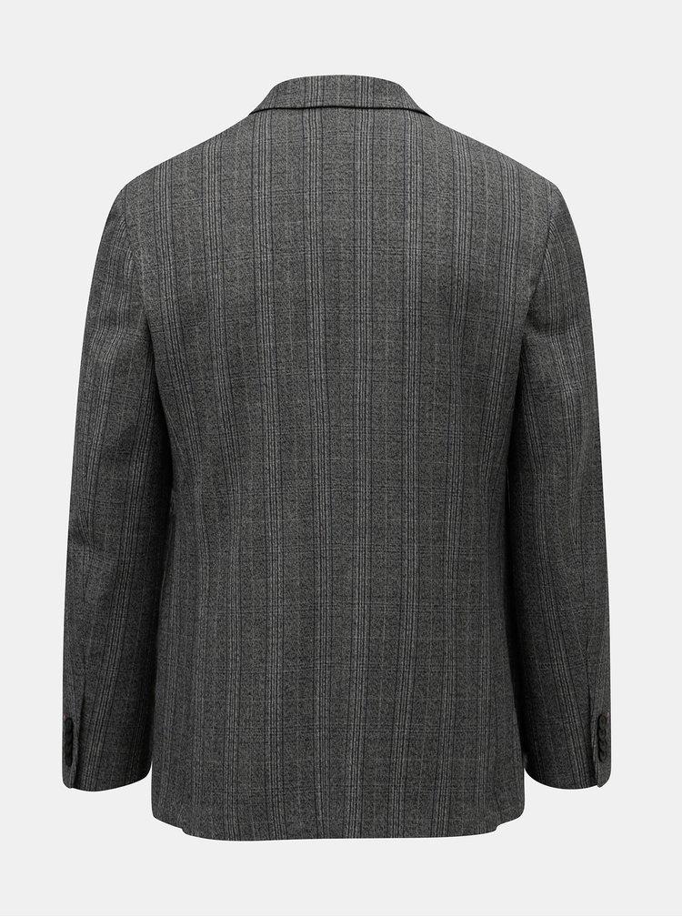 Sacou formal gri in carouri Burton Menswear London Pow