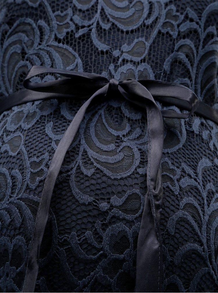 Rochie mulata albastru inchis din dantela pentru femei insarcinate Mama.licious Mivana