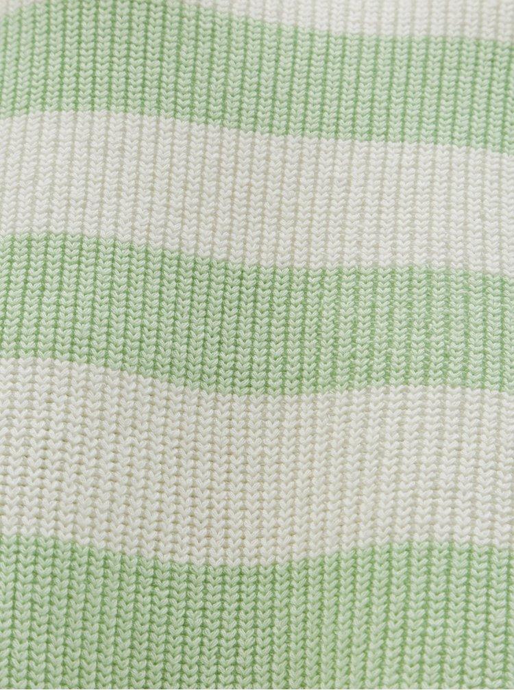 Pulover lejer crem-verde in dungi Selected Femme Neo
