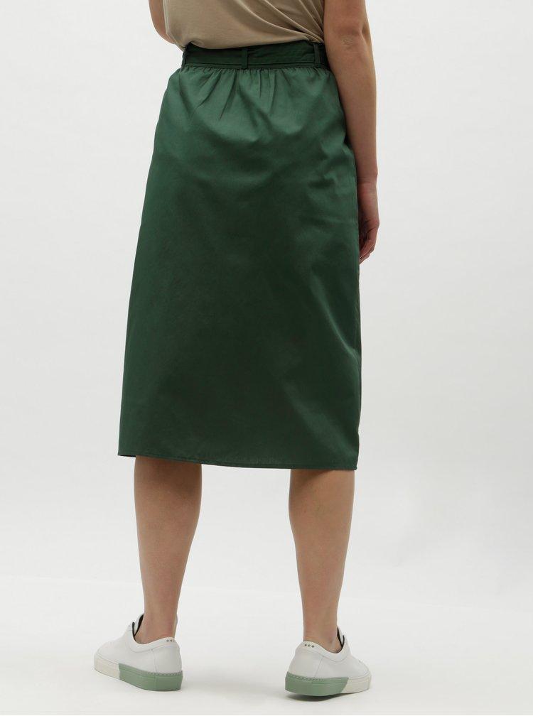 Fusta verde inchis cu buzunare VILA Nyala