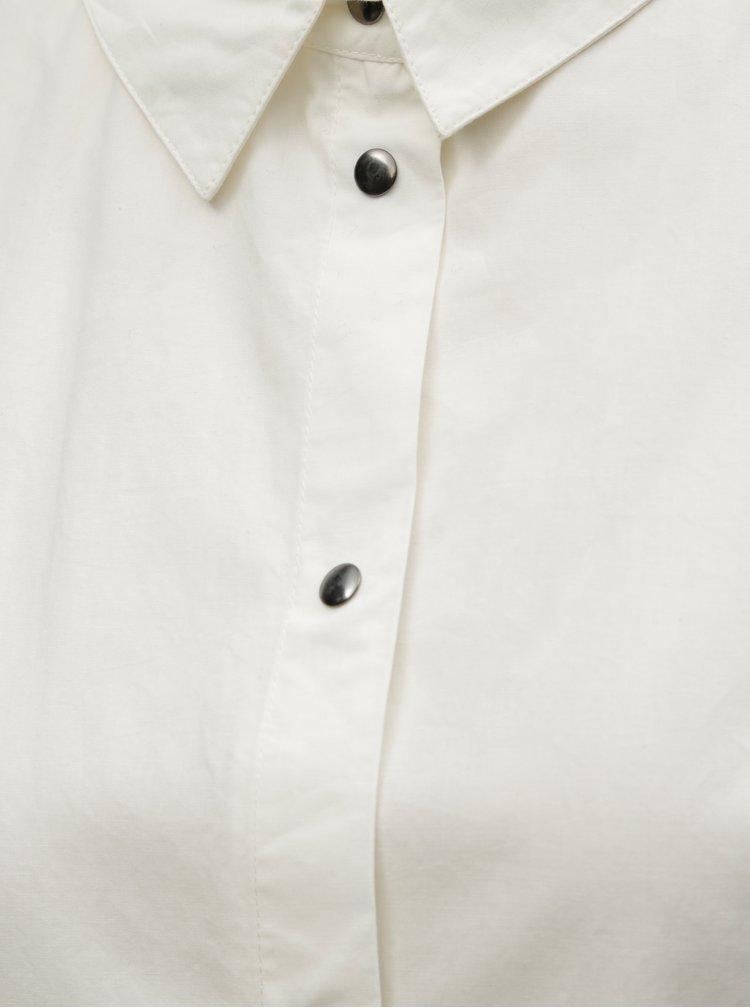 Krémová dlhá košeľa s potlačou Noisy May Brigga
