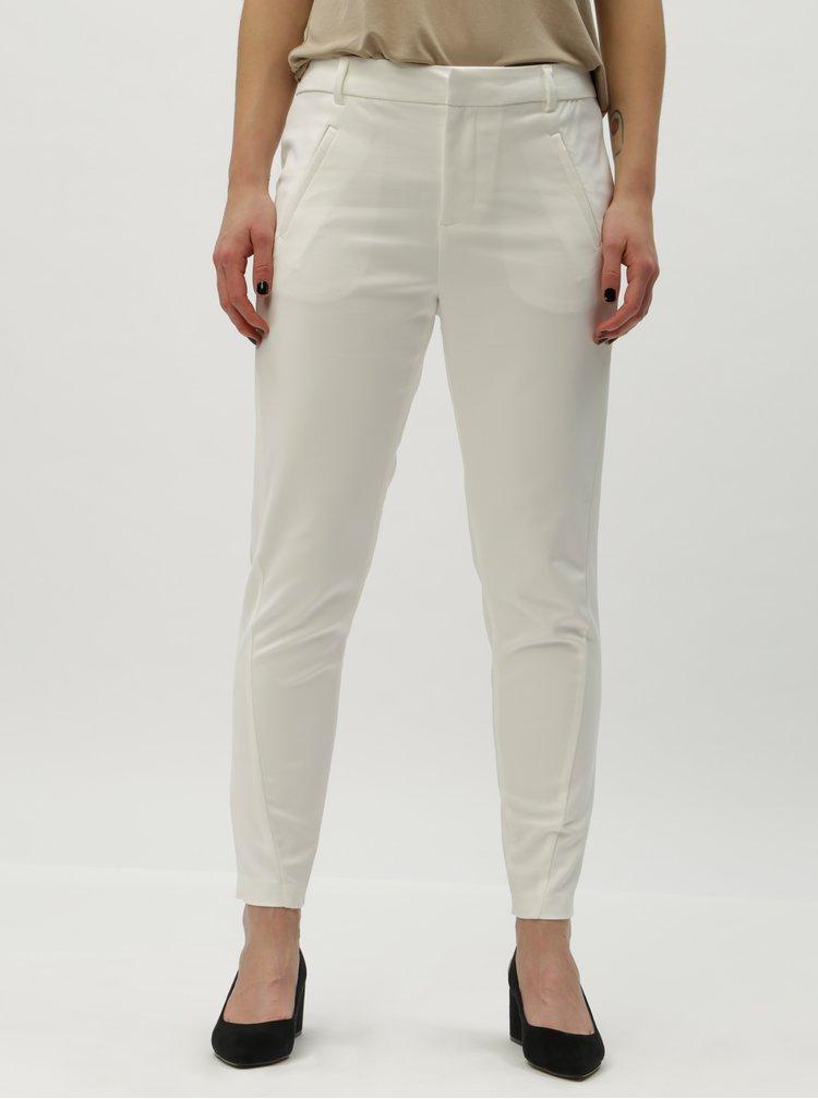 Pantaloni albi pana la glezne VERO MODA Victoria