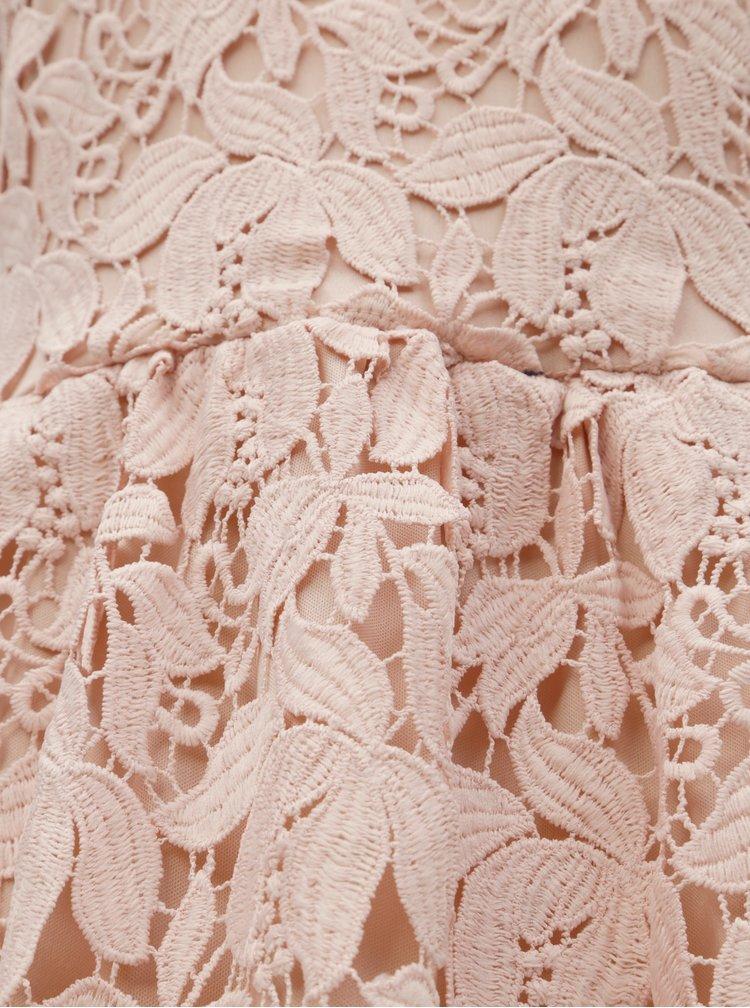 Rochie roz deschis din dantela VILA Kellie