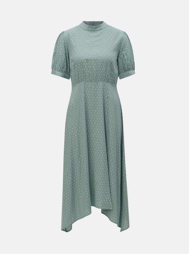 Cihlové šaty s překládaným výstřihem Noisy May Tacita  1f51d15f78