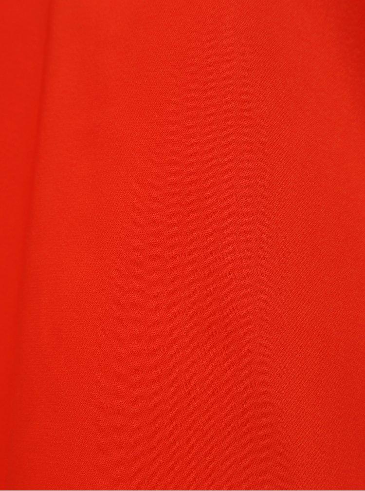 Červený top s krajkovými detaily VERO MODA Tuva