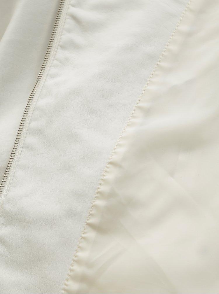 Bílá koženková bunda VERO MODA Nora
