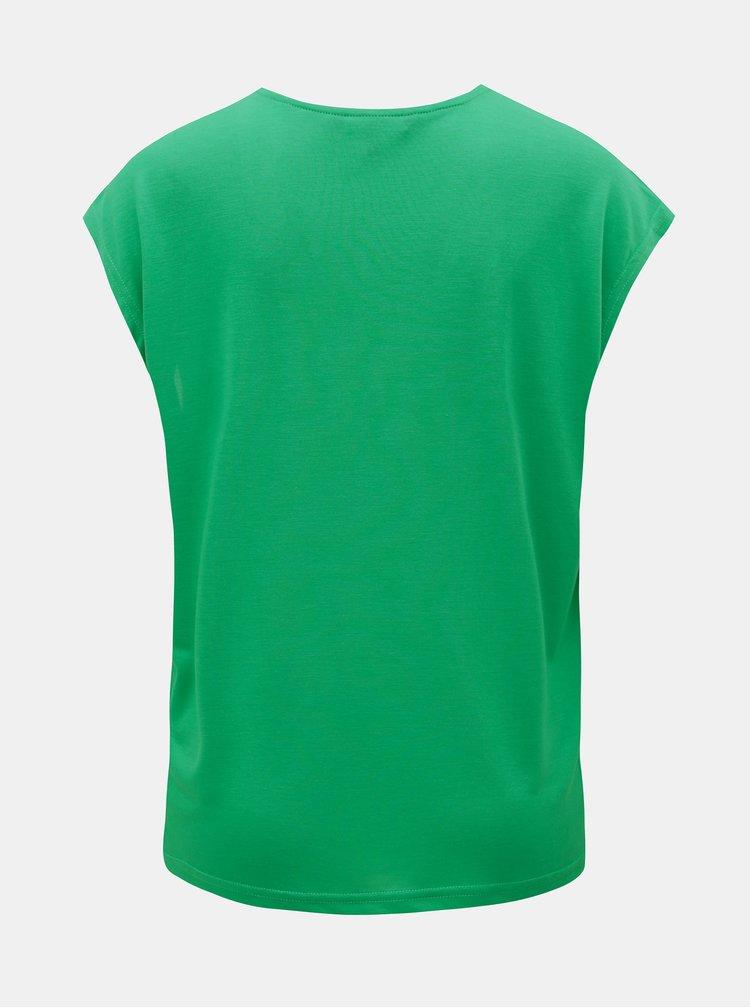 Tricou verde cu detalii din dantela VERO MODA Carrie