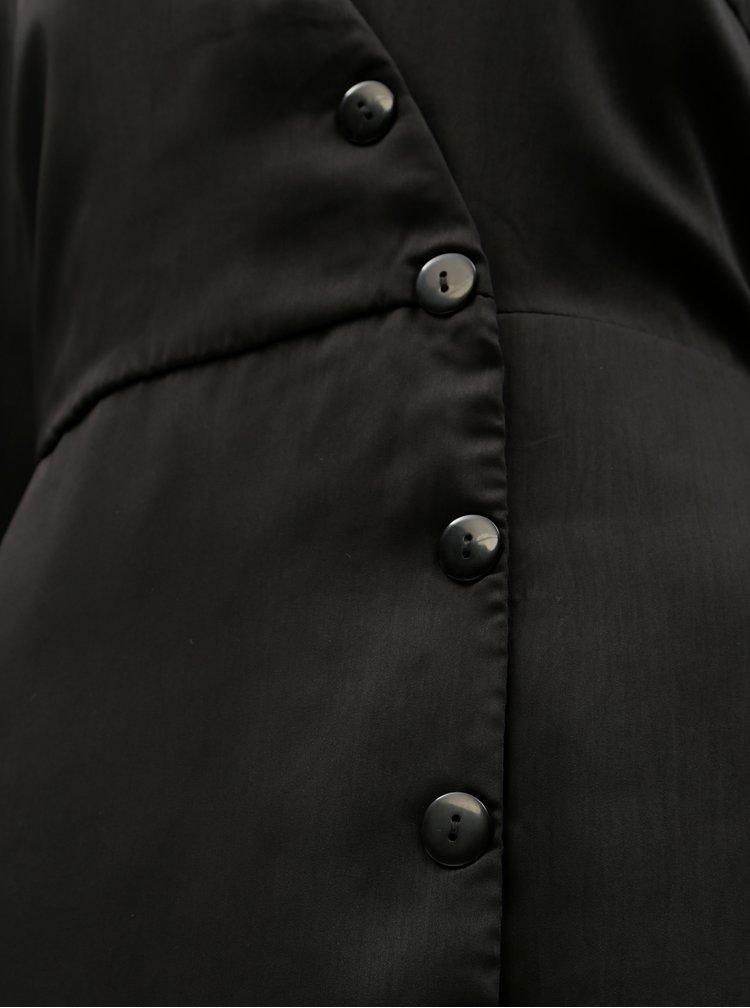 Černé šaty s ozdobnými knoflíky VERO MODA Baya