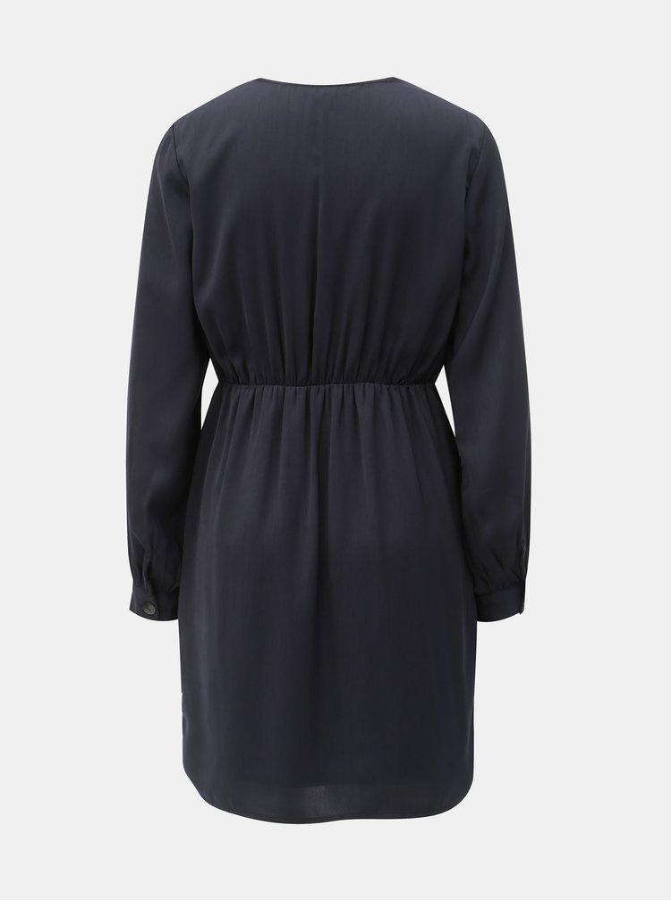 Rochie albastru inchis cu nasturi decorativi VERO MODA Baya