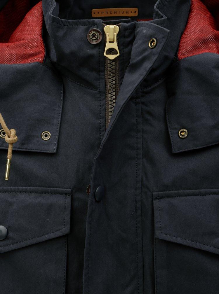 Jacheta parka albastru inchis lejera Jack & Jones Caine