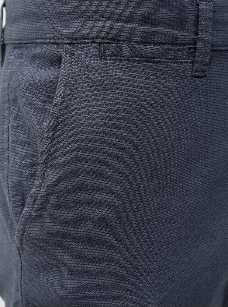 Pantaloni albastri slim fit chino Jack & Jones Marco