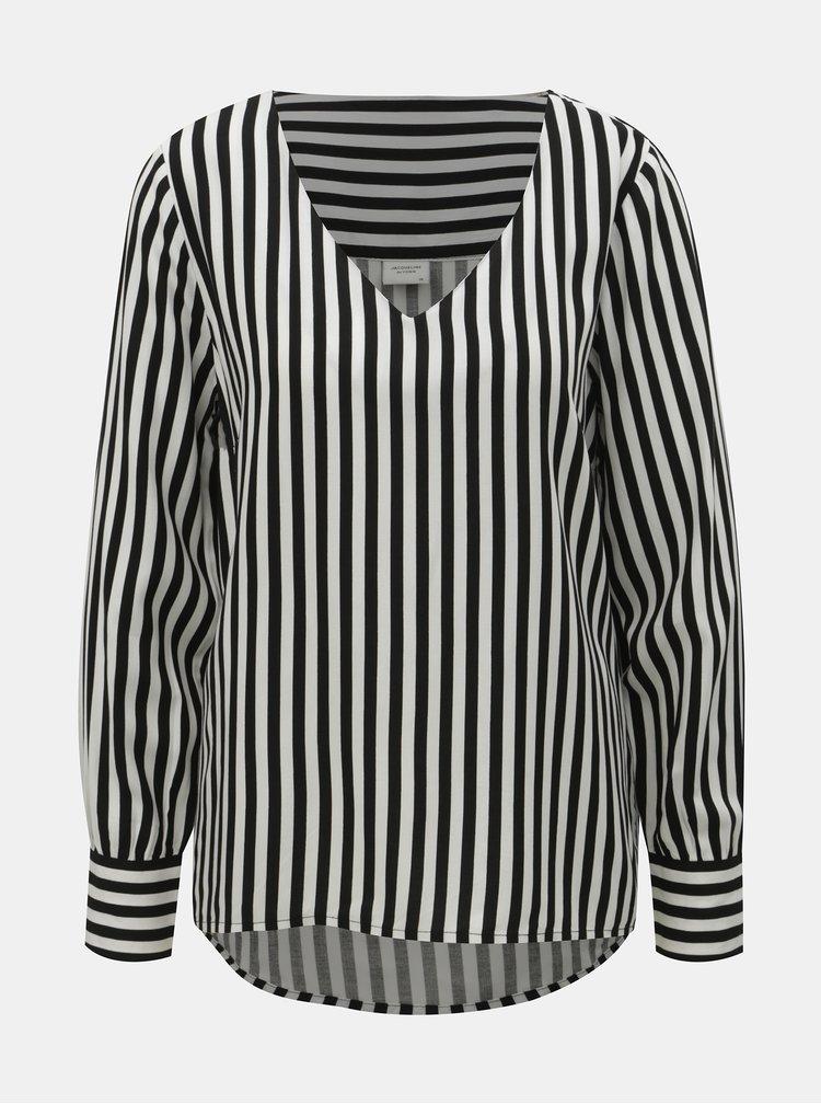Bílo-černá pruhovaná halenka Jacqueline de Yong Isha