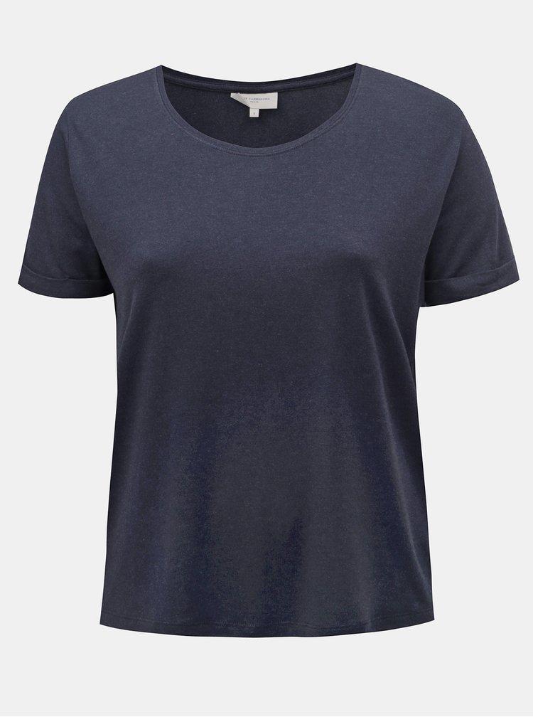 Tricou albastru inchis basic ONLY CARMAKOMA Carma