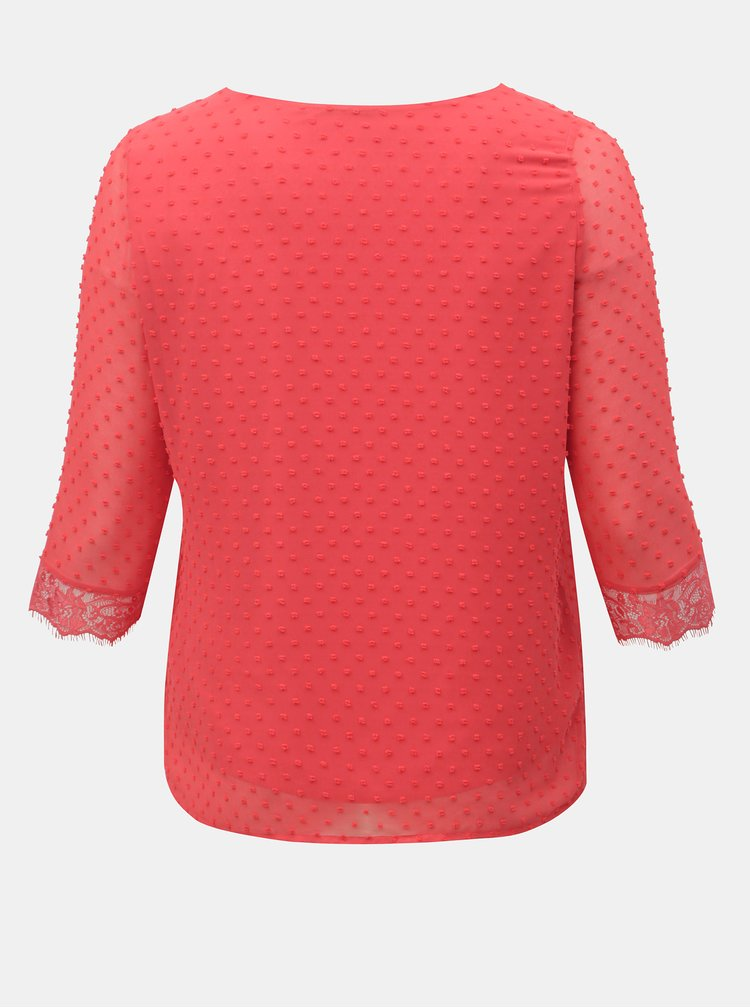 Bluza rosie cu detalii din dantela ONLY CARMAKOMA Dream