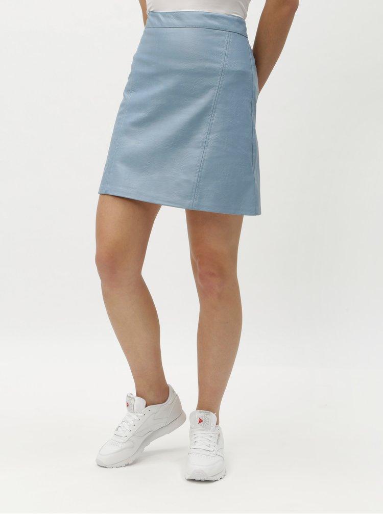 Svetlomodrá koženková sukňa ONLY Allison