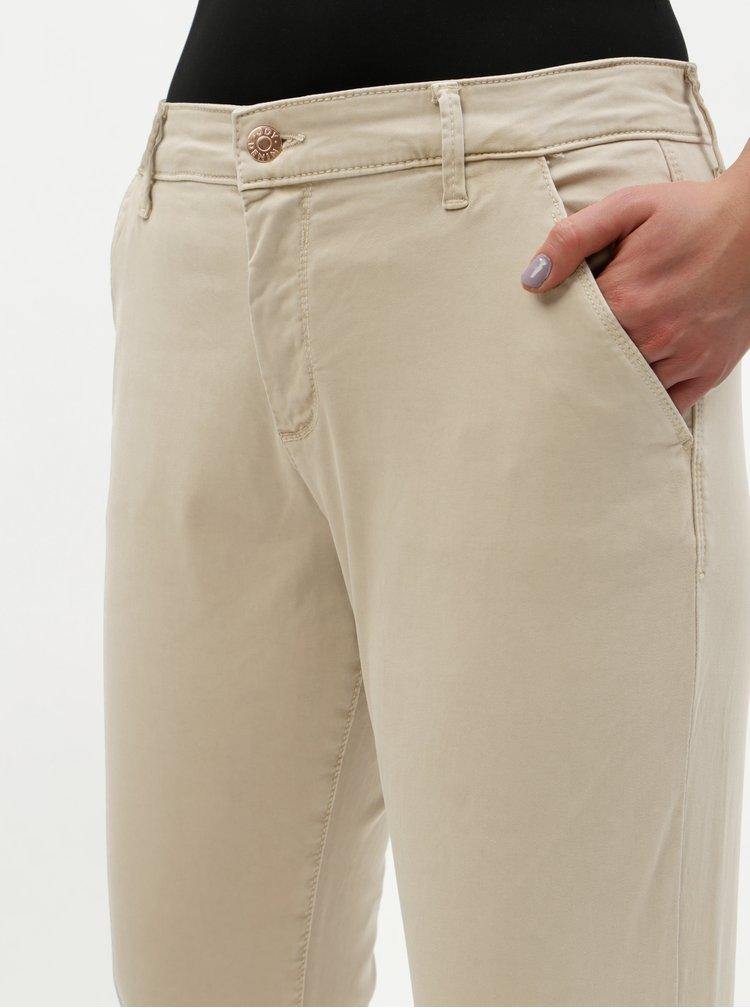 Pantaloni bej chino Jacqueline de Yong Maddy