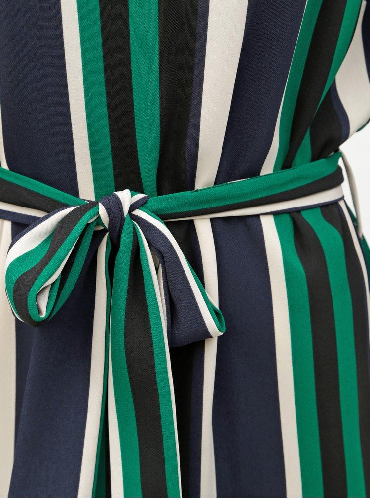 Rochie alb-verde in dungi Dorothy Perkins