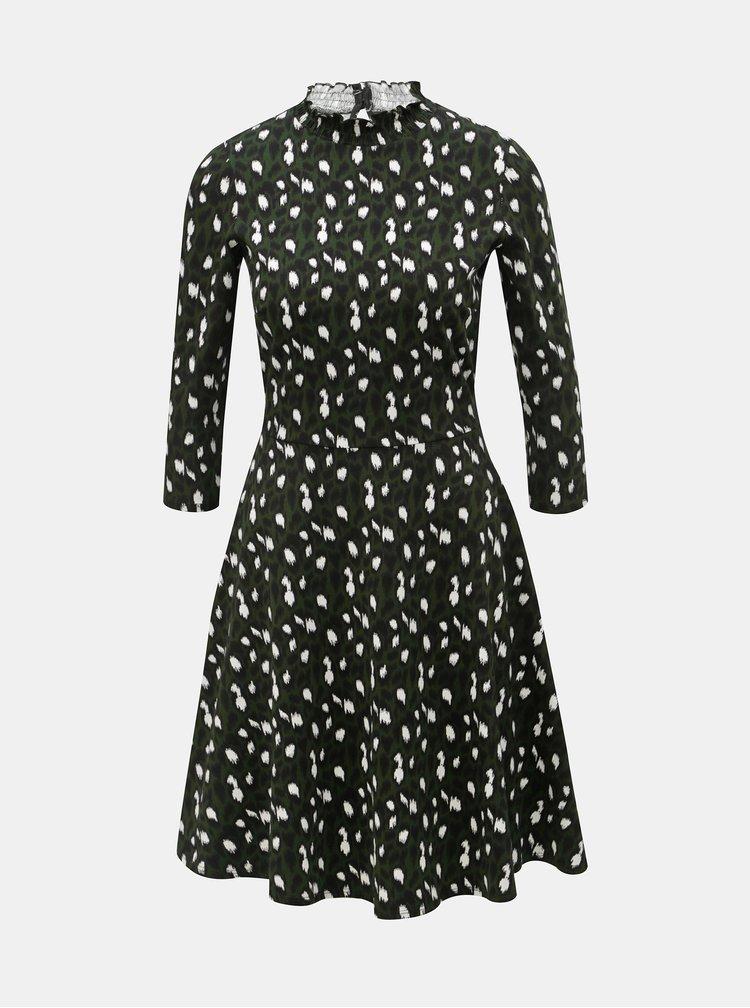 Tmavě zelené šaty s leopardím vzorem Dorothy Perkins