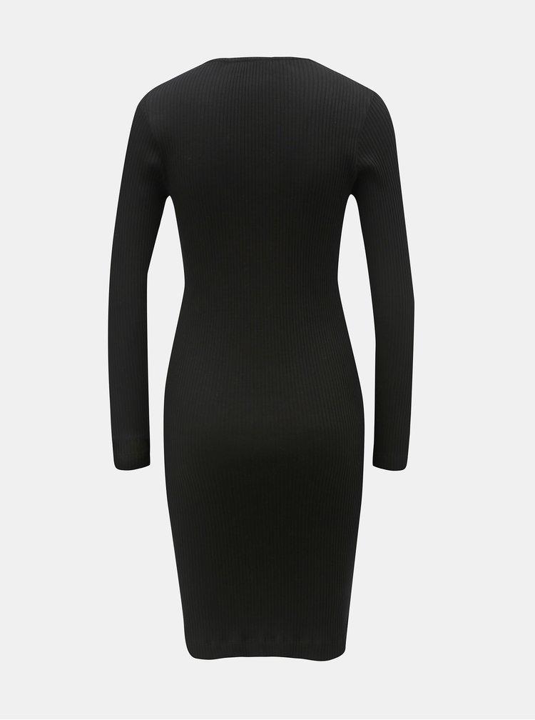 Rochie mulata neagra cu striatii si nasturi decorativi Dorothy Perkins