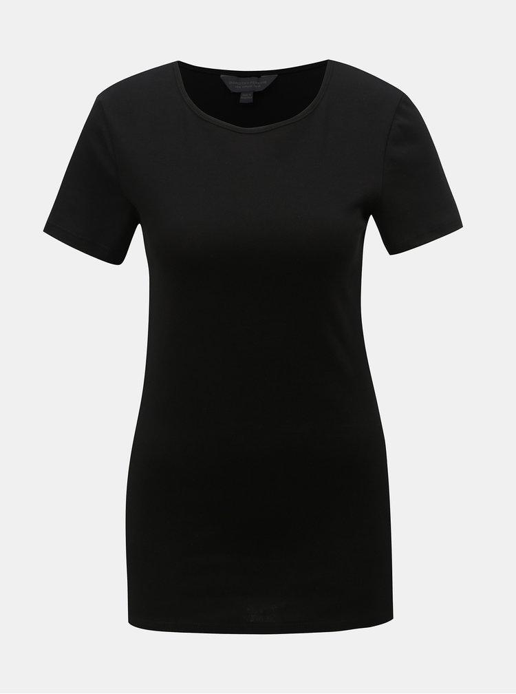 Čierne basic tričko Dorothy Perkins Tall