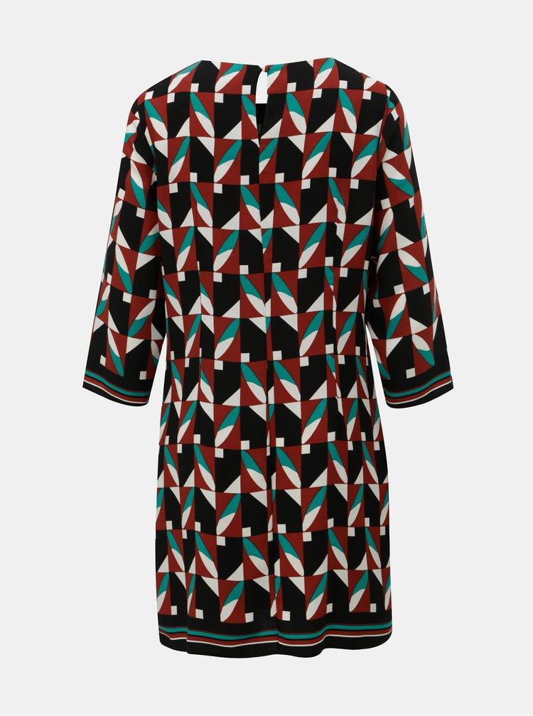Zeleno-černé vzorované šaty Dorothy Perkins