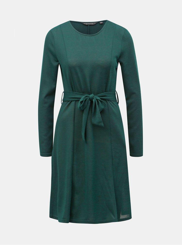 Rochie verde inchis tricotata cu cordon Dorothy Perkins