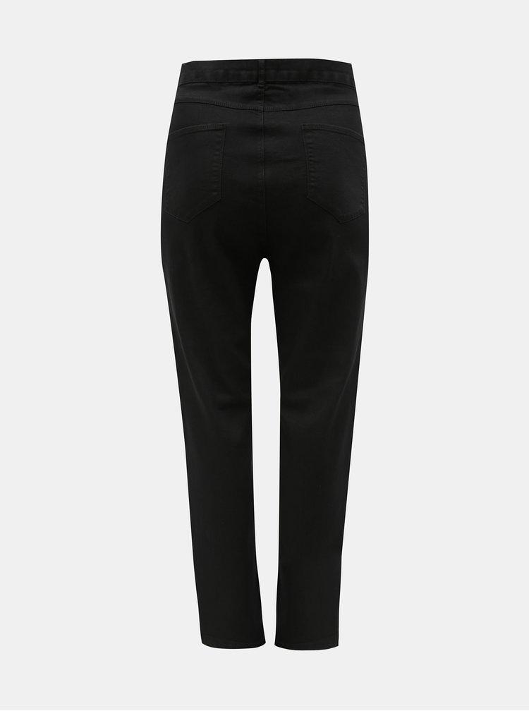 Černé skinny džíny s vysokým pasem Dorothy Perkins Curve Ashley