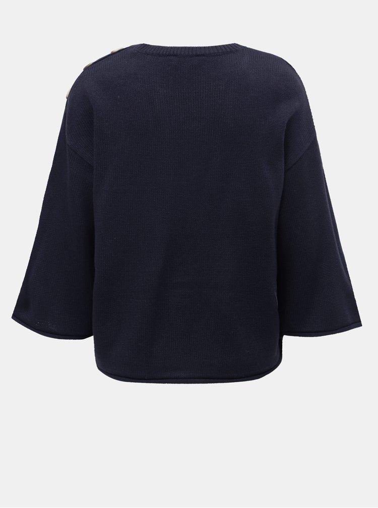 Tmavě modrý svetr s knoflíky Dorothy Perkins