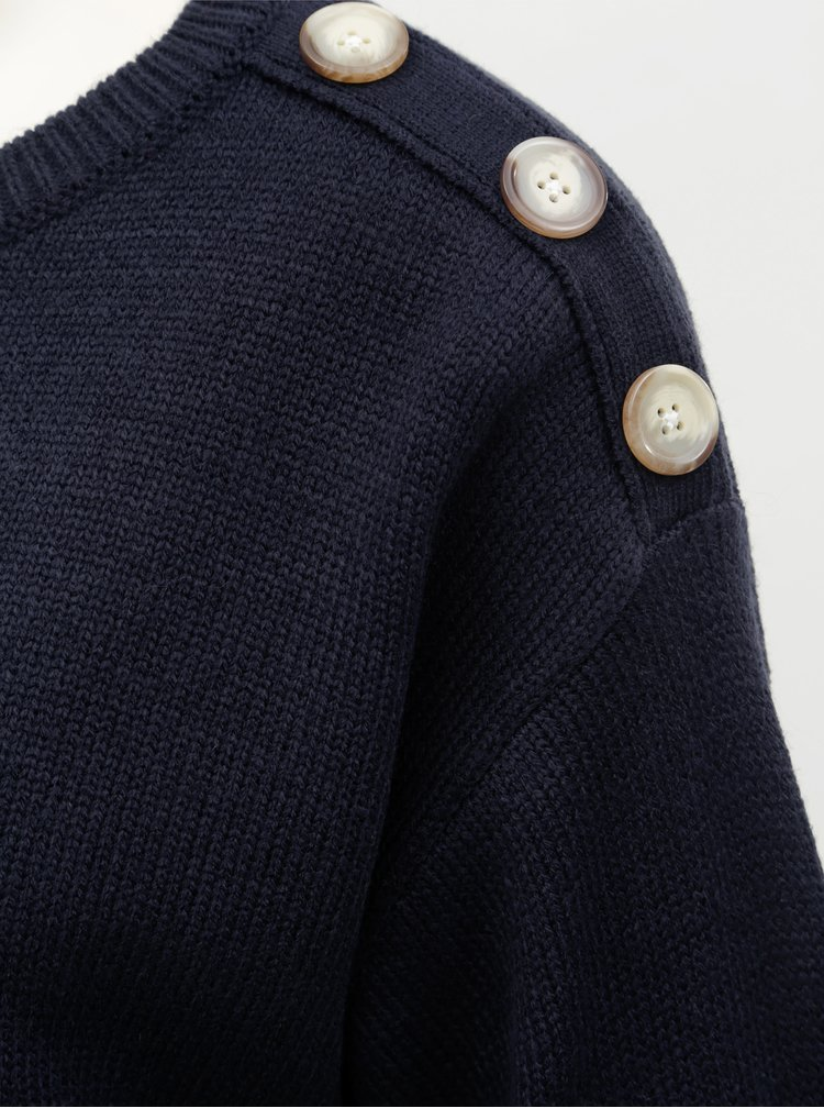 Pulover albastru inchis cu nasturi Dorothy Perkins